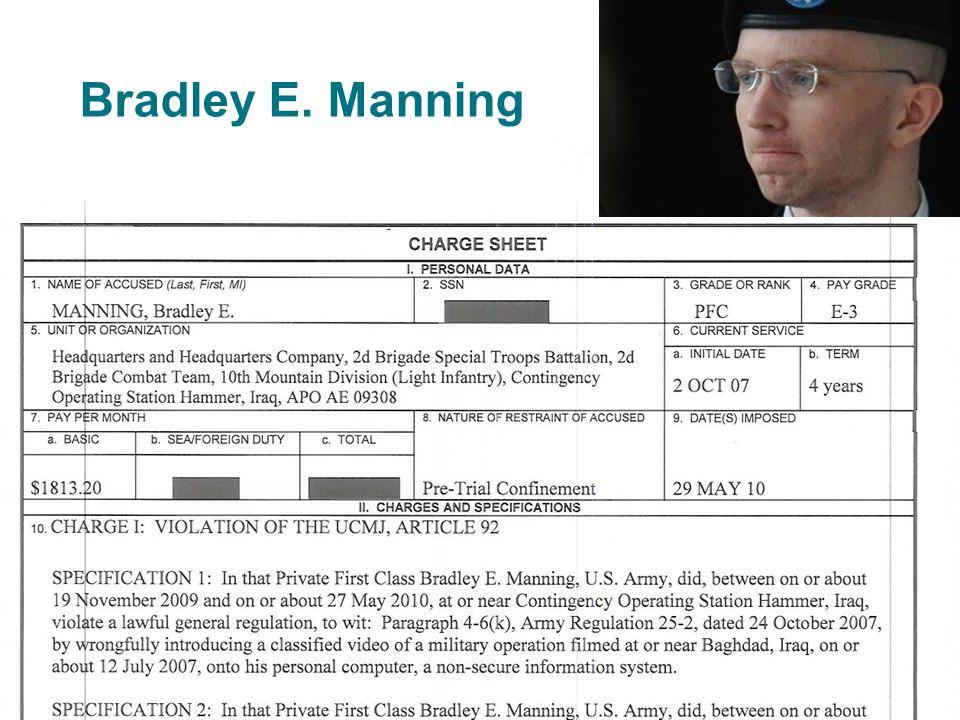 Bradley E. Manning