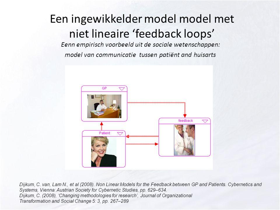 Een ingewikkelder model model met niet lineaire 'feedback loops'