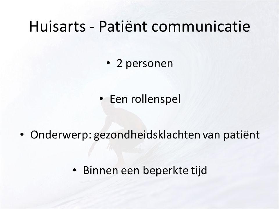 Huisarts - Patiënt communicatie