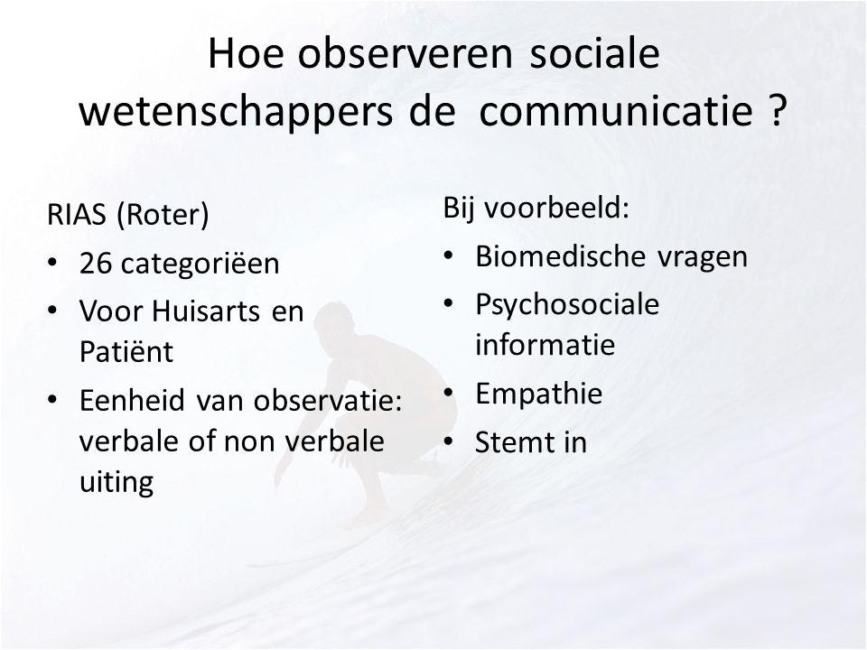 Hoe observeren sociale wetenschappers de communicatie