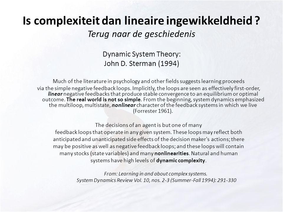 Is complexiteit dan lineaire ingewikkeldheid