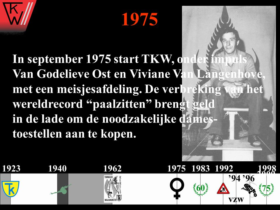 1975 In september 1975 start TKW, onder impuls