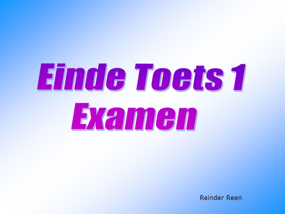 Einde Toets 1 Examen Reinder Reen 83