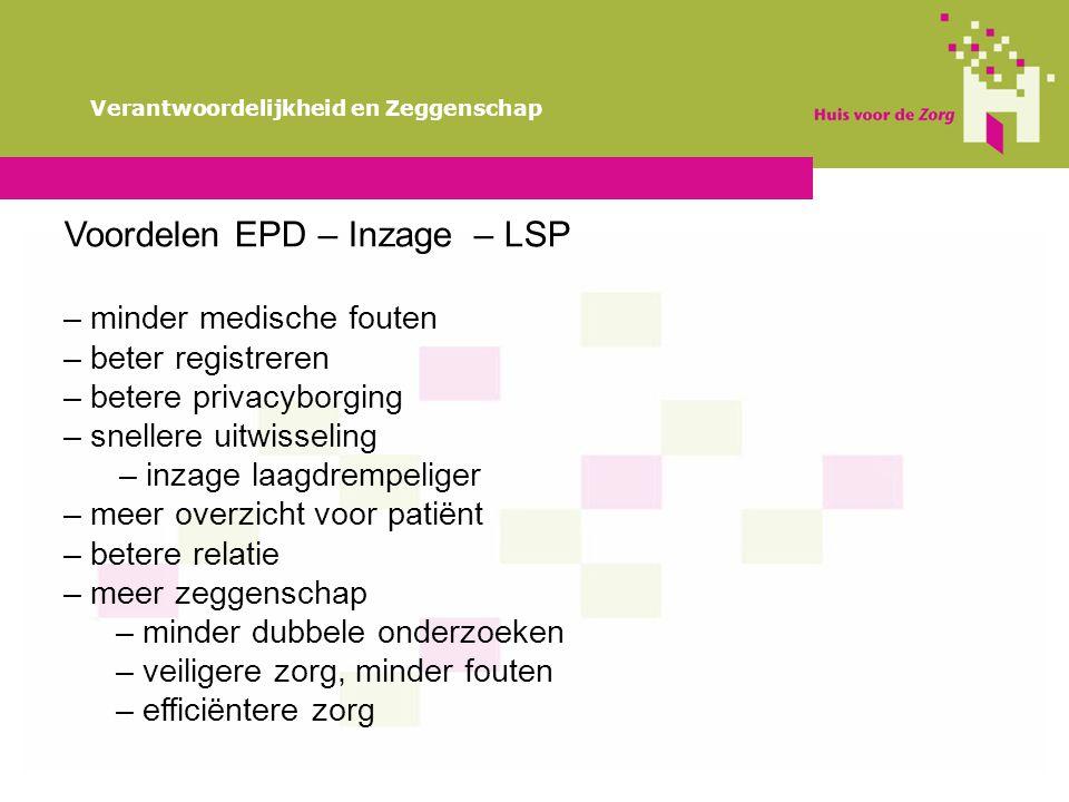 Voordelen EPD – Inzage – LSP