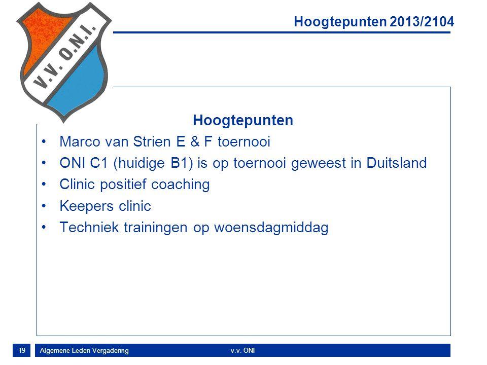 Marco van Strien E & F toernooi