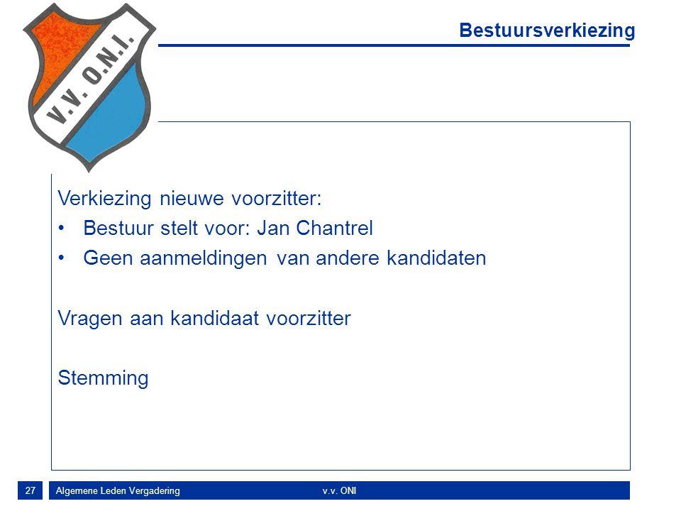 Verkiezing nieuwe voorzitter: Bestuur stelt voor: Jan Chantrel