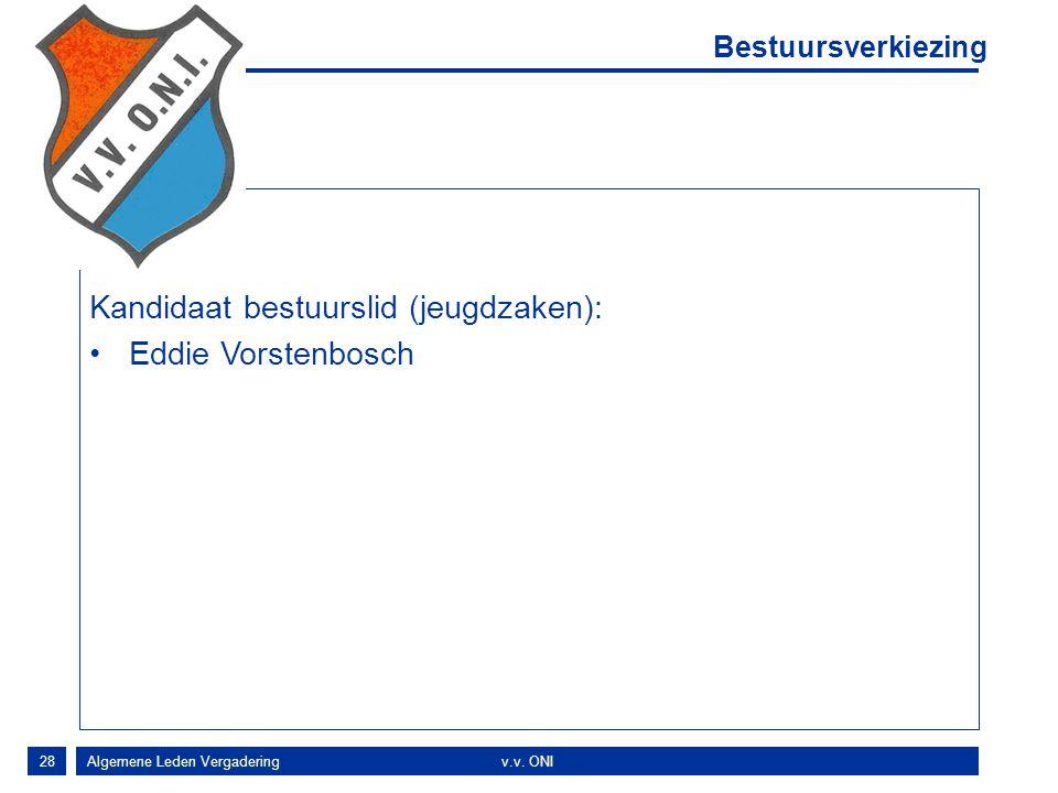 Kandidaat bestuurslid (jeugdzaken): Eddie Vorstenbosch