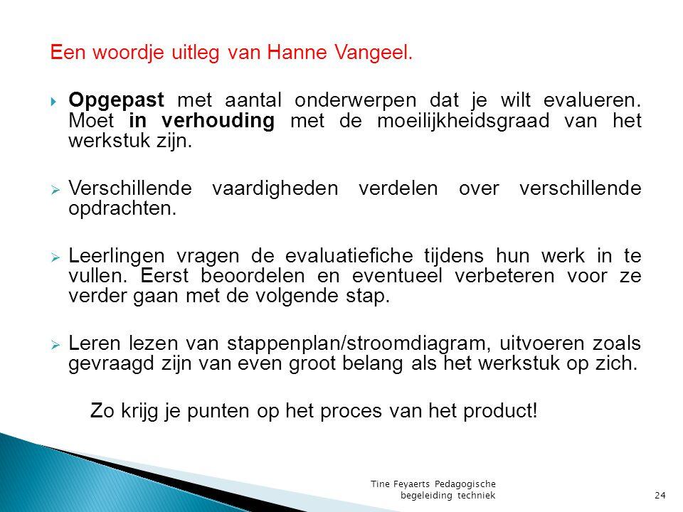 Een woordje uitleg van Hanne Vangeel.