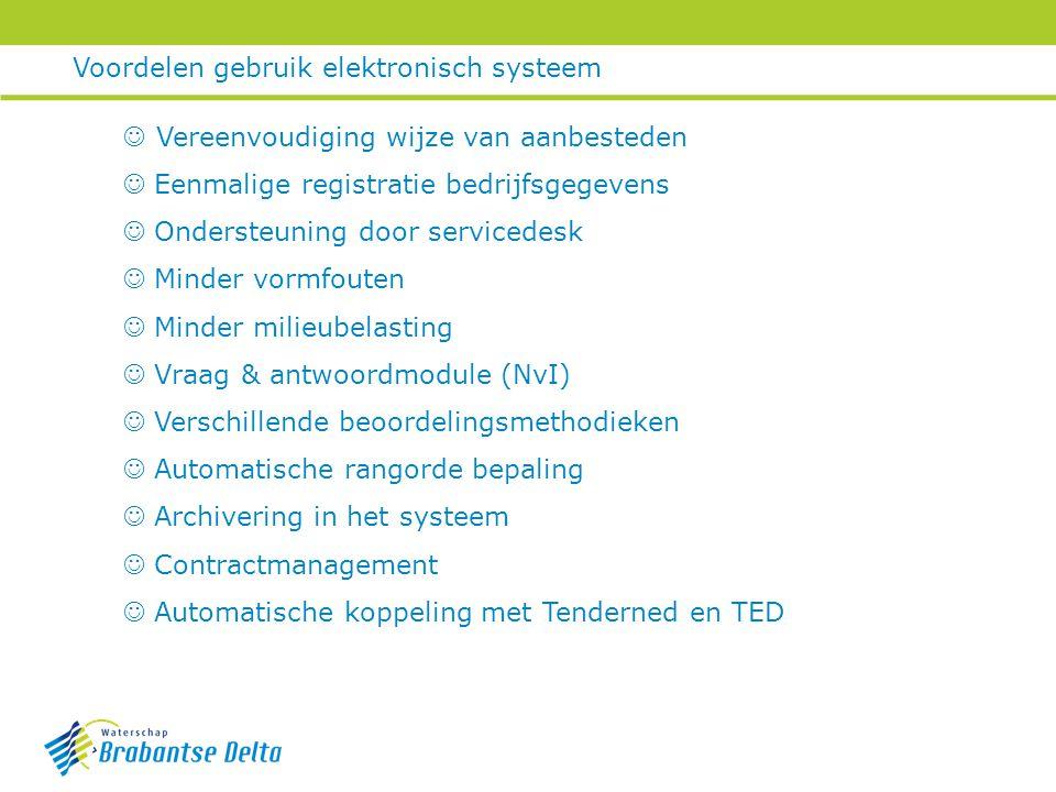 Voordelen gebruik elektronisch systeem