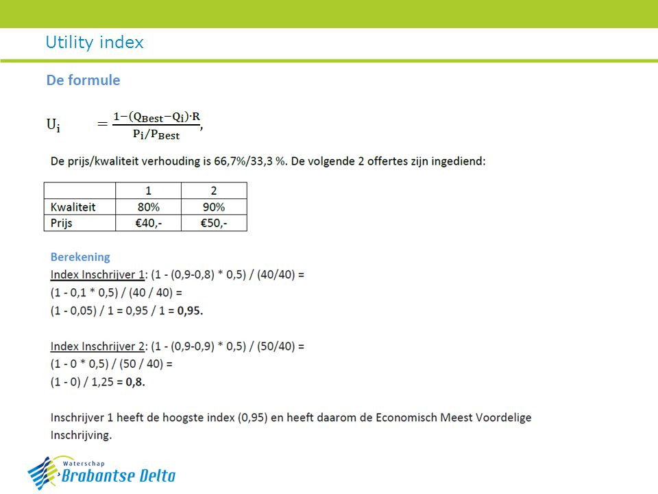 Utility index Liane
