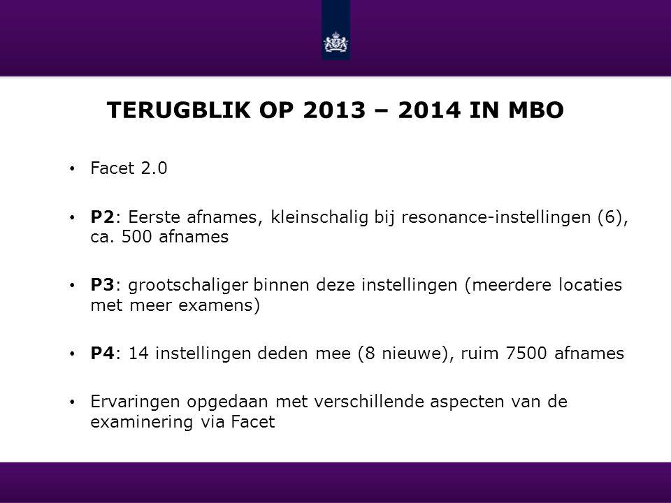 Terugblik op 2013 – 2014 in mbo Facet 2.0