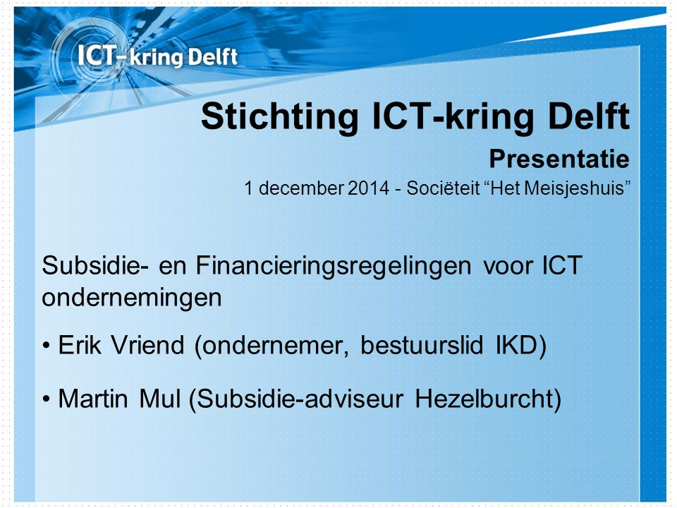Stichting ICT-kring Delft
