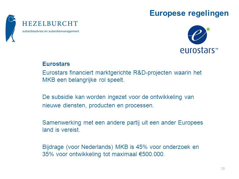 Europese regelingen Eurostars