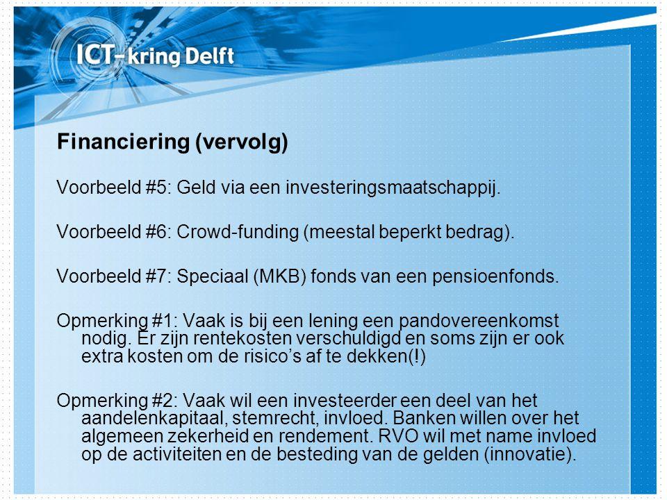 Financiering (vervolg)