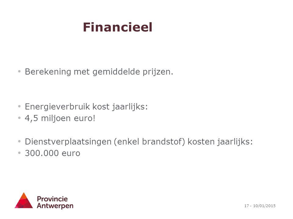 Financieel Berekening met gemiddelde prijzen.