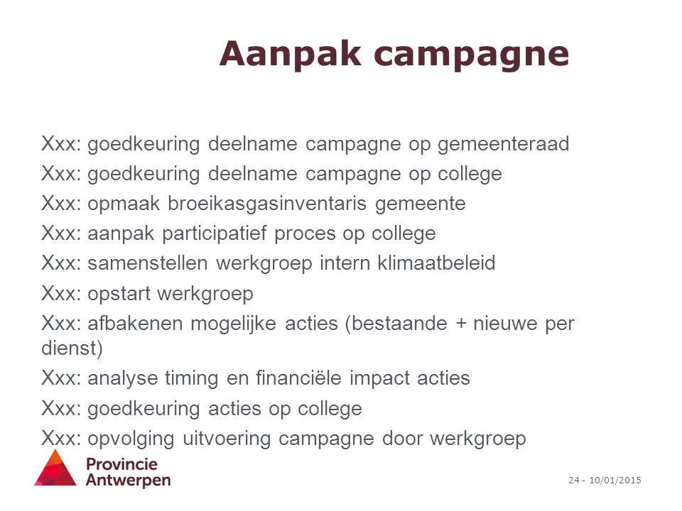 Aanpak campagne