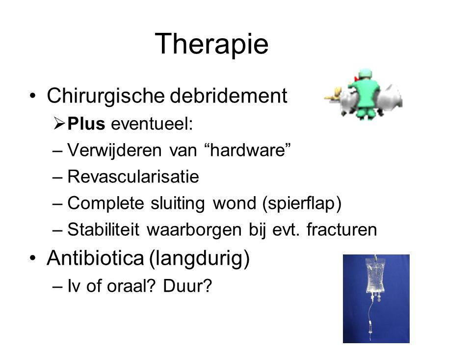 Therapie Chirurgische debridement Antibiotica (langdurig)