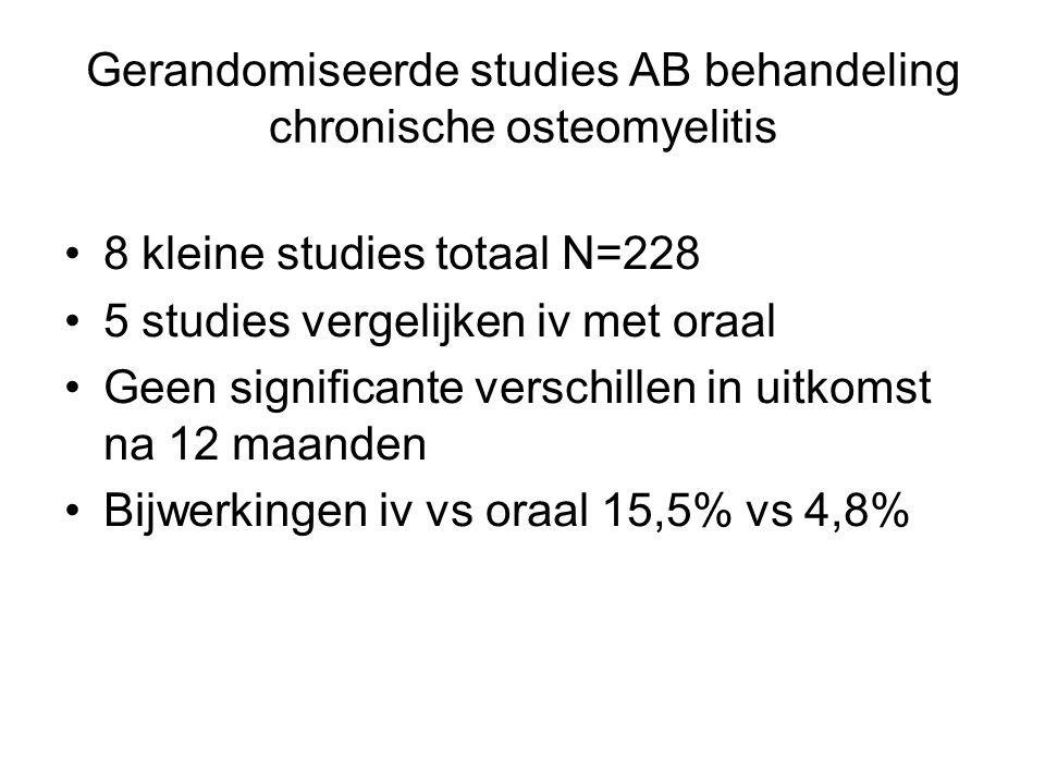 Gerandomiseerde studies AB behandeling chronische osteomyelitis