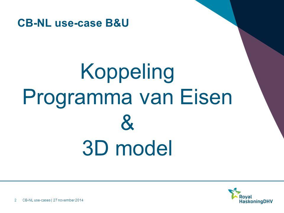 Koppeling Programma van Eisen & 3D model