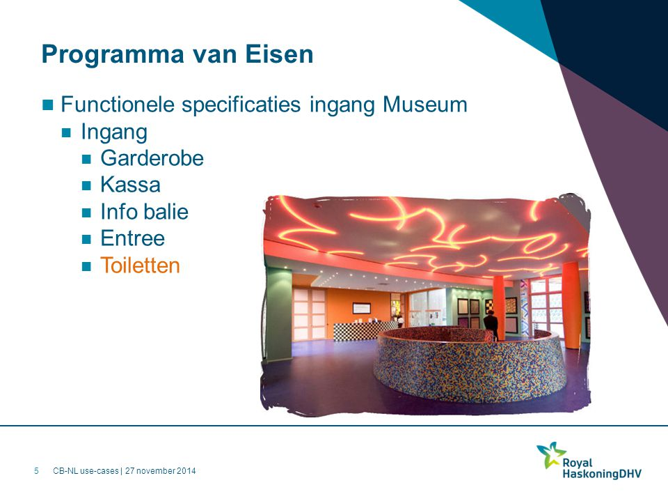 Programma van Eisen Functionele specificaties ingang Museum Ingang