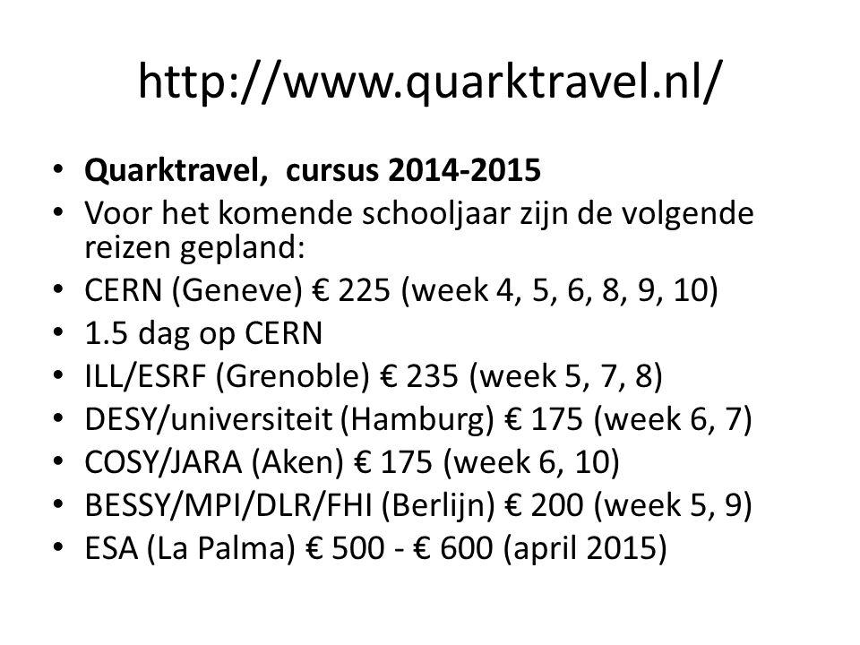 http://www.quarktravel.nl/ Quarktravel, cursus 2014-2015