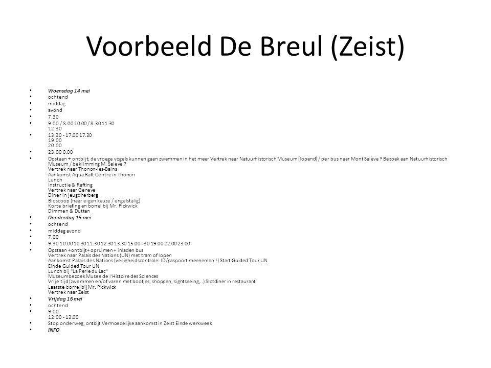 Voorbeeld De Breul (Zeist)