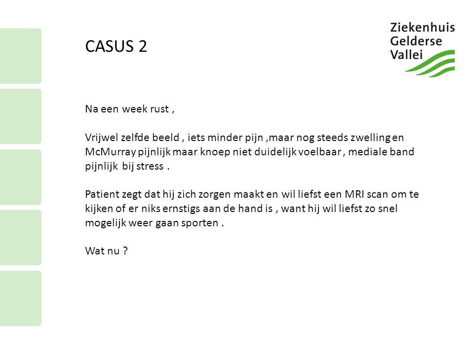CASUS 2 Na een week rust ,