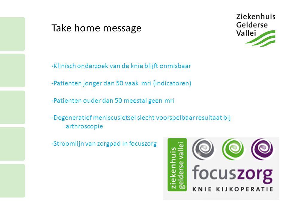 Take home message Klinisch onderzoek van de knie blijft onmisbaar