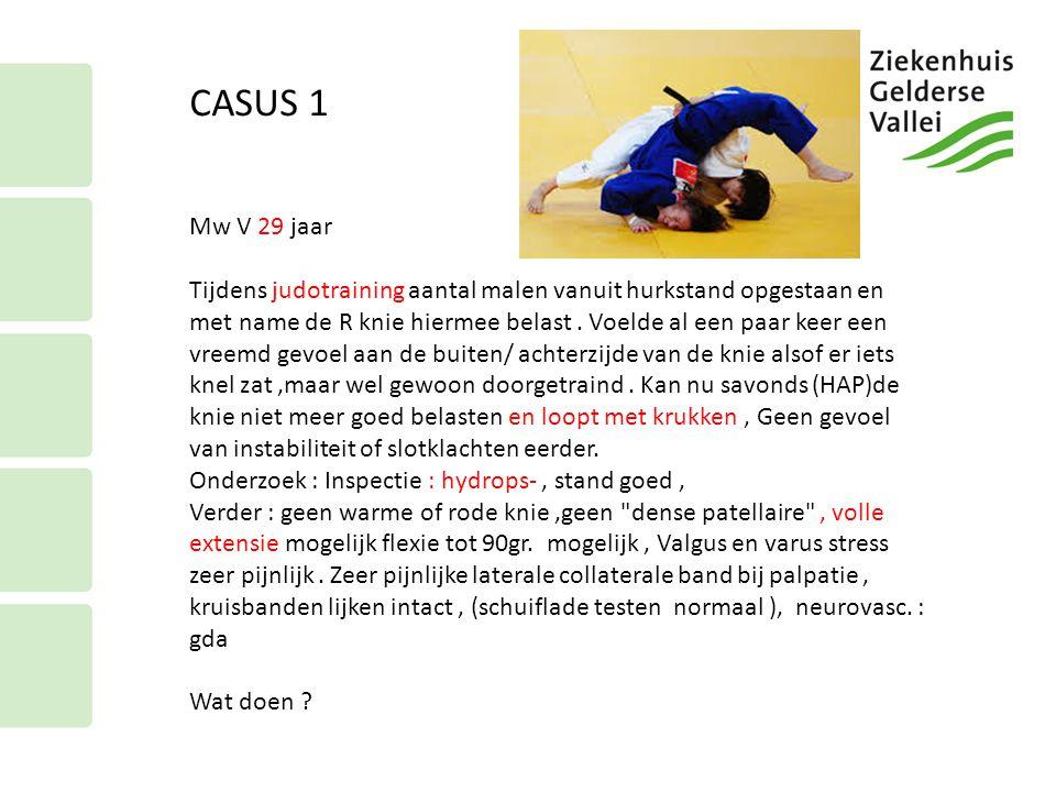 CASUS 1 Mw V 29 jaar.