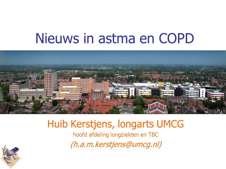 Nieuws in astma en COPD Huib Kerstjens, longarts UMCG
