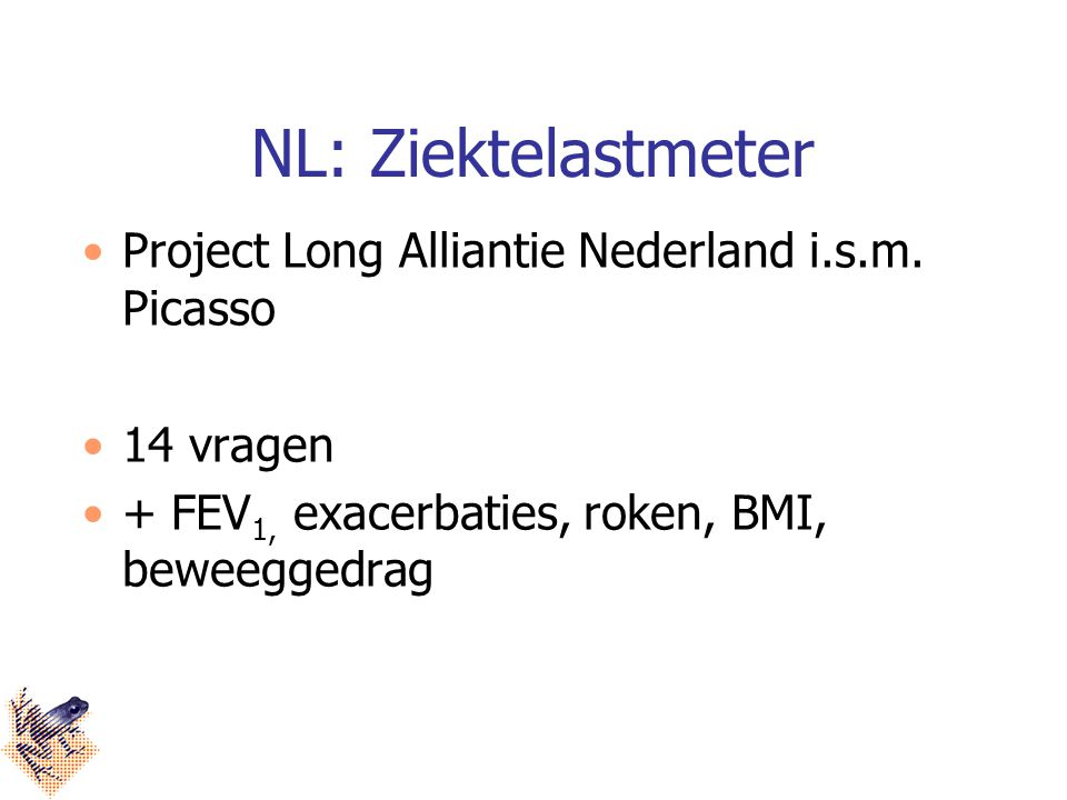 NL: Ziektelastmeter Project Long Alliantie Nederland i.s.m. Picasso