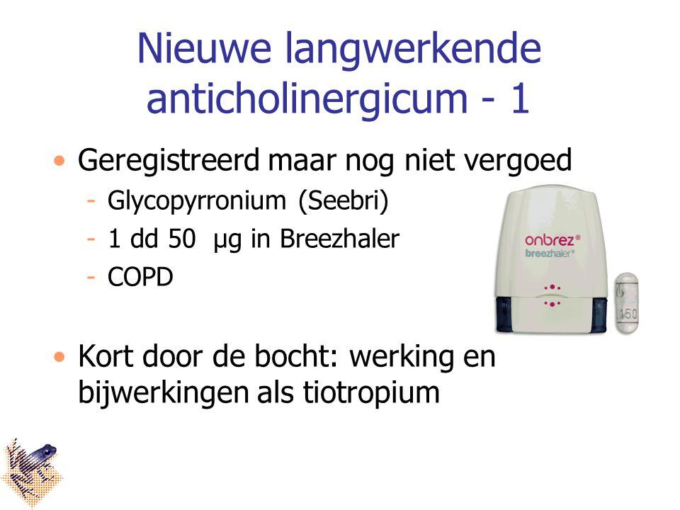 Nieuwe langwerkende anticholinergicum - 1