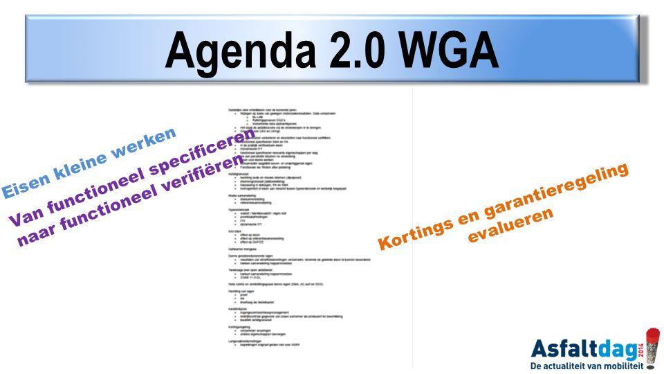 Agenda 2.0 WGA Eisen kleine werken Van functioneel specificeren