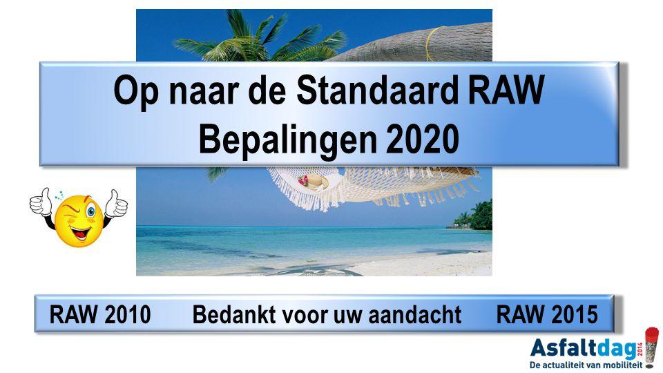 Op naar de Standaard RAW Bepalingen 2020