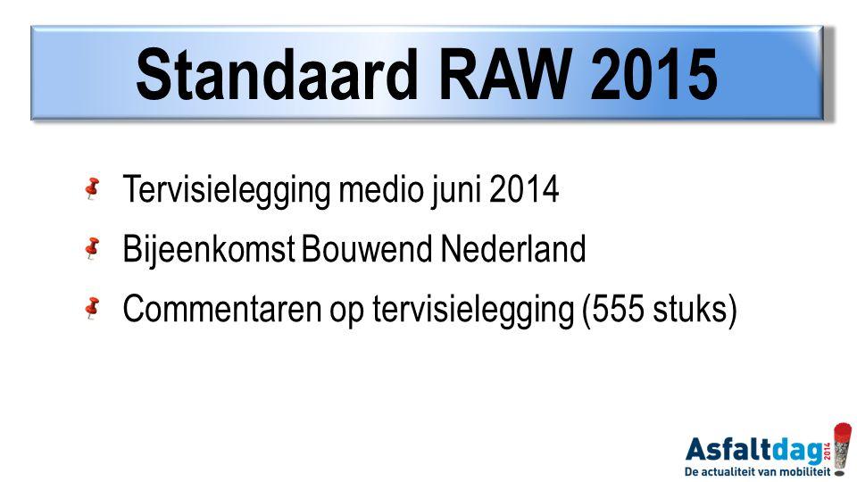 Standaard RAW 2015 Tervisielegging medio juni 2014