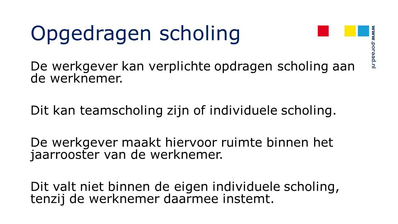 Opgedragen scholing