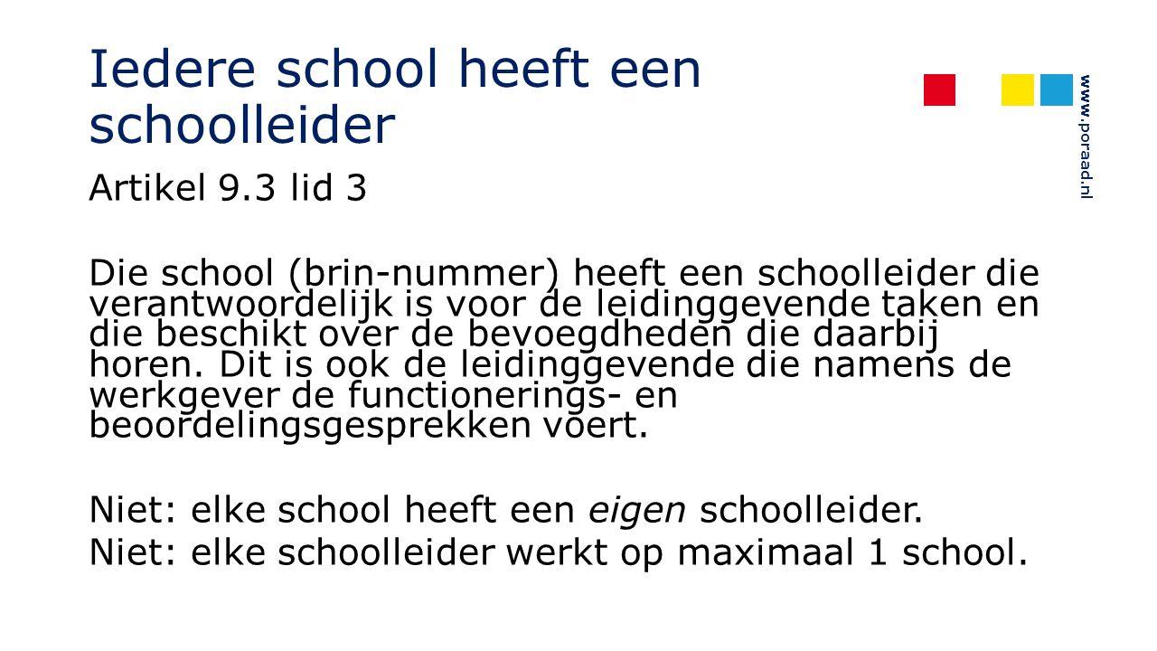 Iedere school heeft een schoolleider