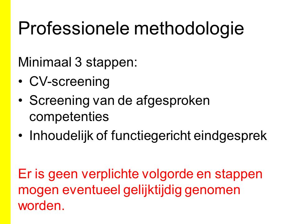 Professionele methodologie