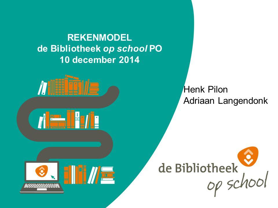 REKENMODEL de Bibliotheek op school PO 10 december 2014