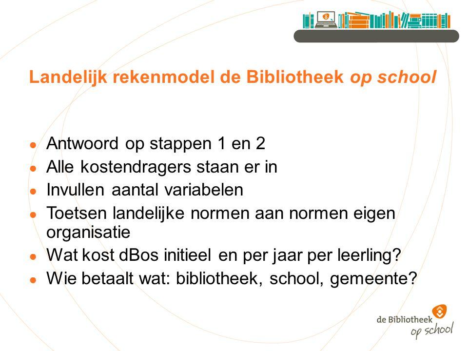 Landelijk rekenmodel de Bibliotheek op school