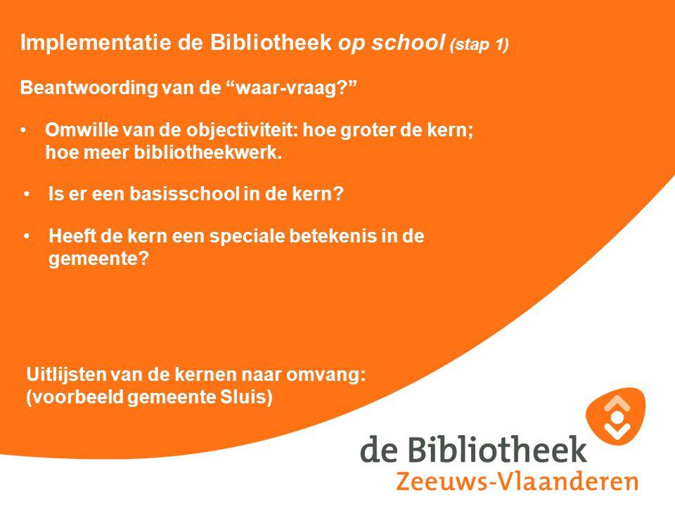 Implementatie de Bibliotheek op school (stap 1)