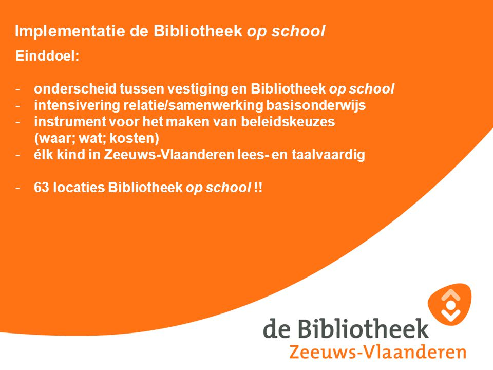 Implementatie de Bibliotheek op school
