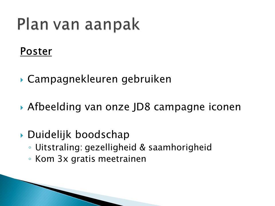 Plan van aanpak Poster Campagnekleuren gebruiken