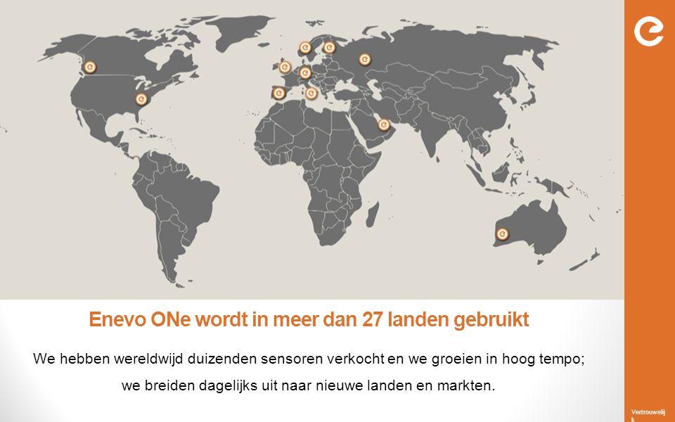 Enevo ONe wordt in meer dan 27 landen gebruikt