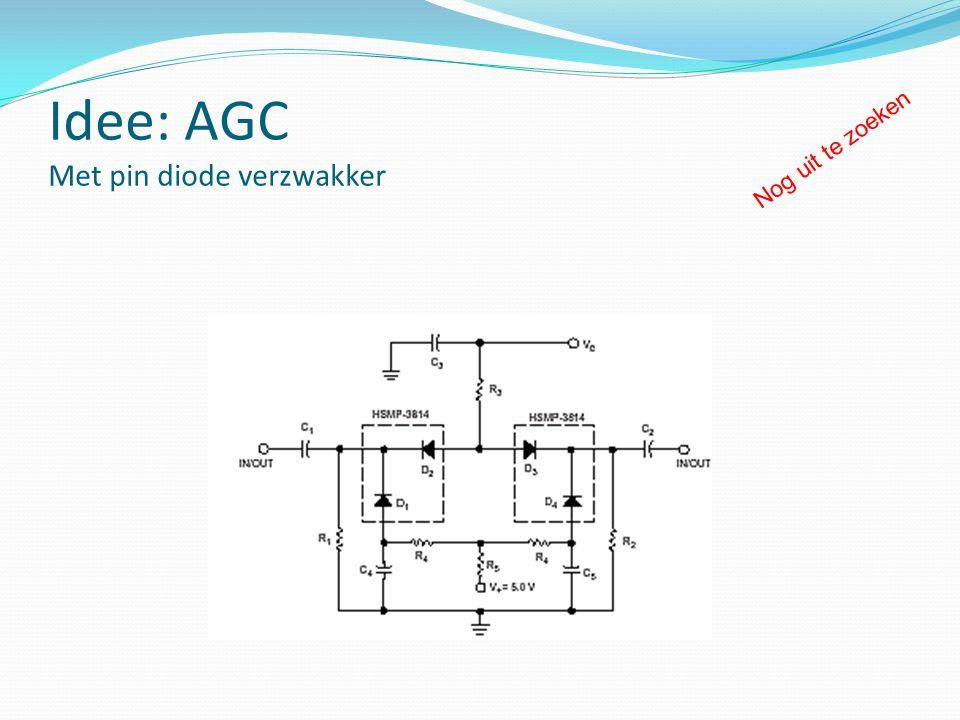Idee: AGC Met pin diode verzwakker