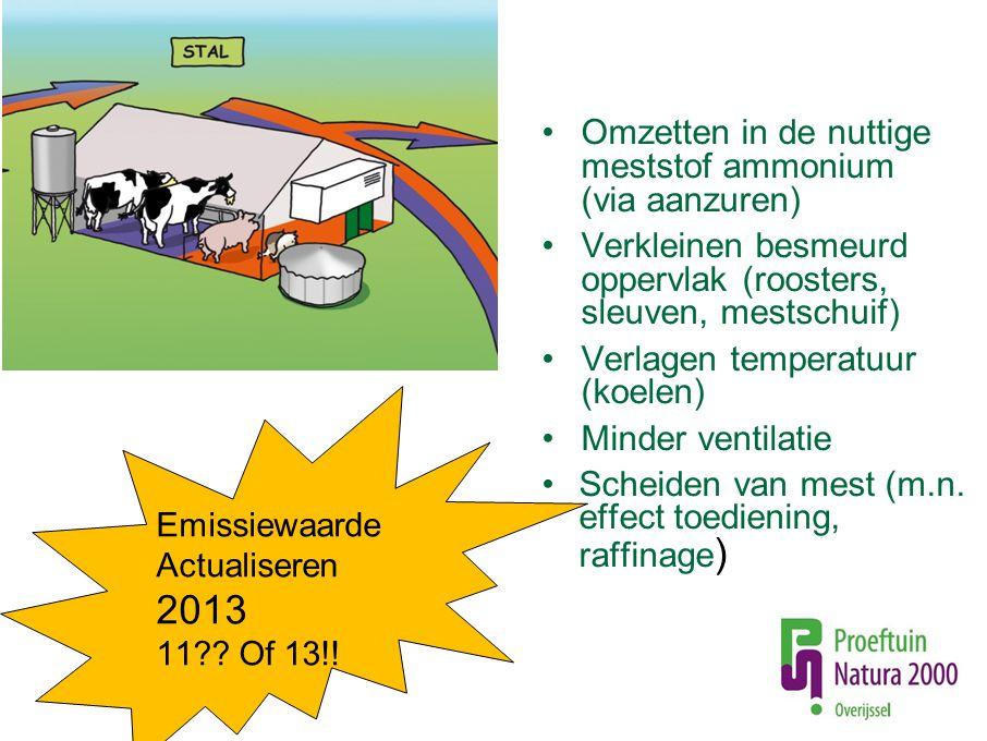2013 Omzetten in de nuttige meststof ammonium (via aanzuren)