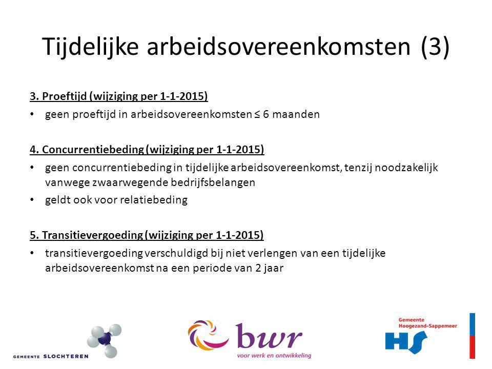 Tijdelijke arbeidsovereenkomsten (3)