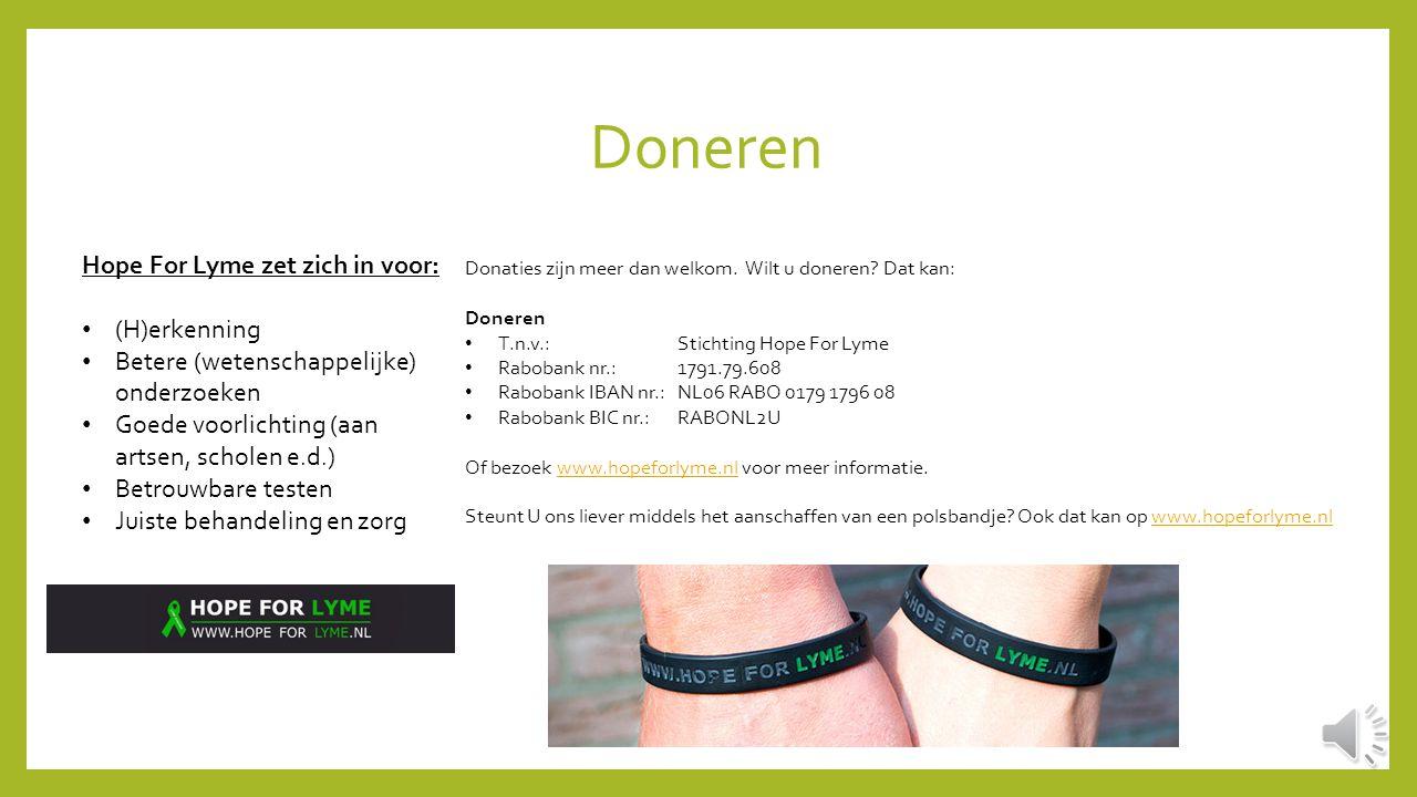 Doneren Hope For Lyme zet zich in voor: (H)erkenning