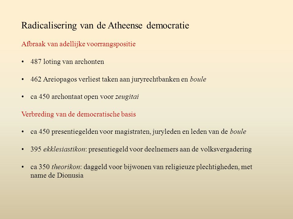 Radicalisering van de Atheense democratie