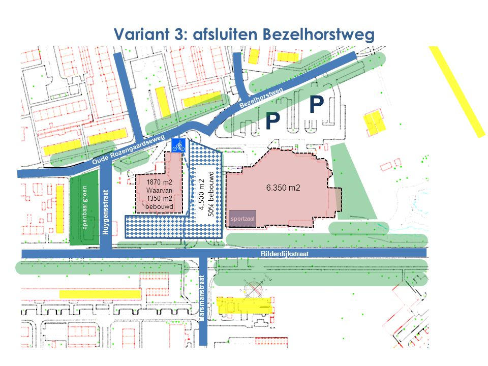 Variant 3: afsluiten Bezelhorstweg